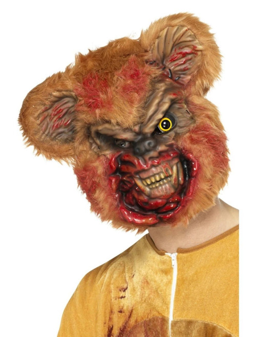 """35"""" Brown and Red Zombie Teddy Bear Unisex Adult Halloween Mask Costume Accessory - One Size - IMAGE 1"""