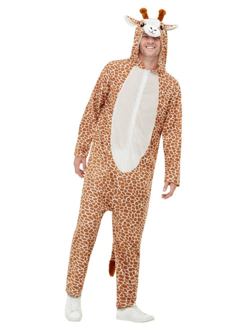 "48"" Brown and White Giraffe Unisex Adult Halloween Costume - Large - IMAGE 1"