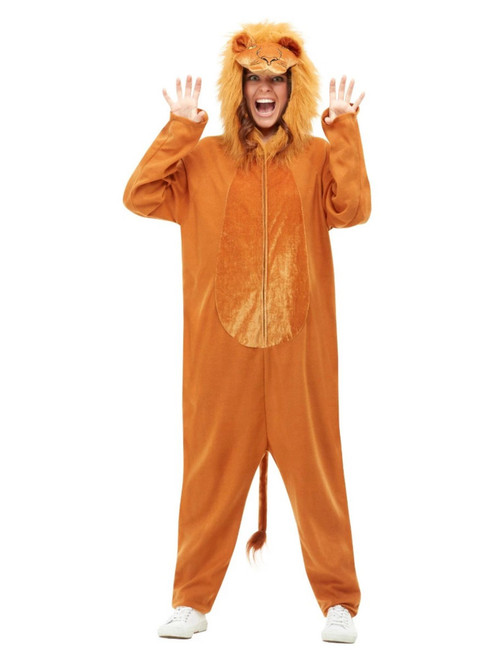 "41"" Brown Lion Unisex Adult Halloween Costume - Medium - IMAGE 1"