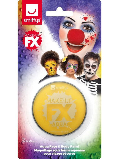 """19"""" Yellow Face and Body Unisex Adult Halloween Make-Up FX Kit Costume Accessory - IMAGE 1"""