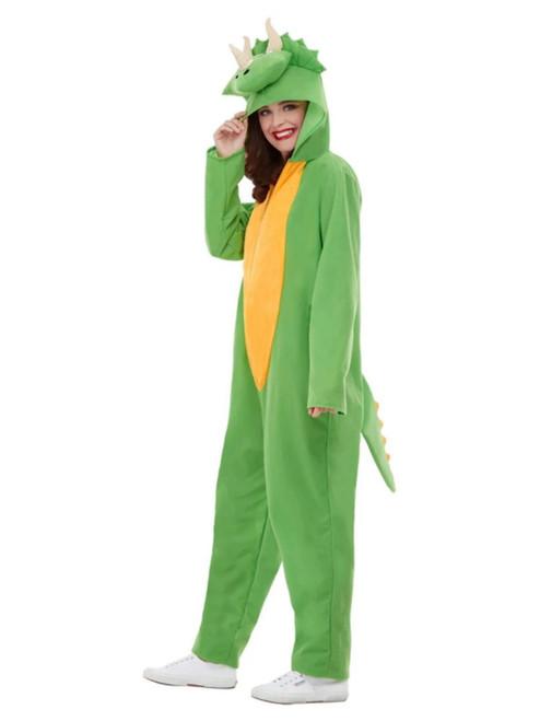"42"" Green and Yellow Dinosaur Unisex Adult Halloween Costume - Medium - IMAGE 1"