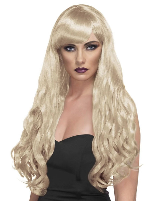 """26"""" Blonde Yellow Desire Long Curly Gothic Style Women Adult Halloween Wig Costume Accessory - One Size - IMAGE 1"""
