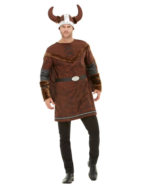 """49"""" Brown Viking Barbarian Men Adult Halloween Costume - Large - IMAGE 1"""