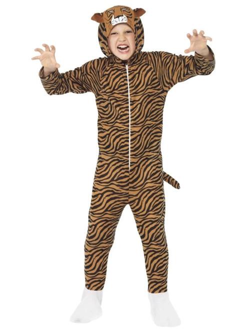 "42"" Brown and Black Tiger Unisex Child Halloween Costume - Medium - IMAGE 1"
