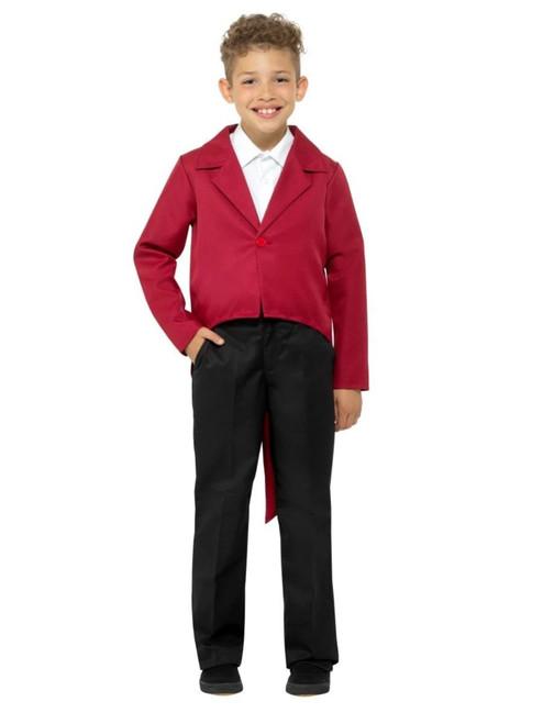 "40"" Red Unisex Child Tailcoat Halloween Costume - Medium - IMAGE 1"