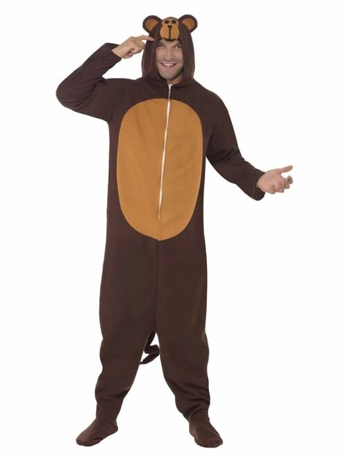 "42"" Brown Monkey Men Adult Halloween Costume - Large - IMAGE 1"