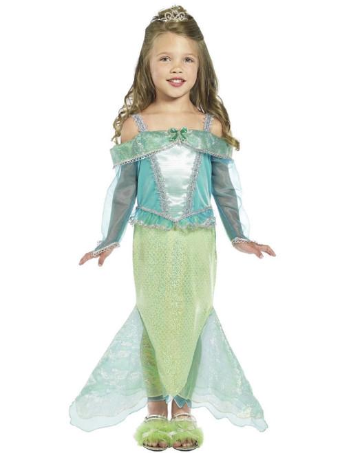 "49"" Green and Blue Mermaid Princess Girl Child Halloween Costume - Small - IMAGE 1"