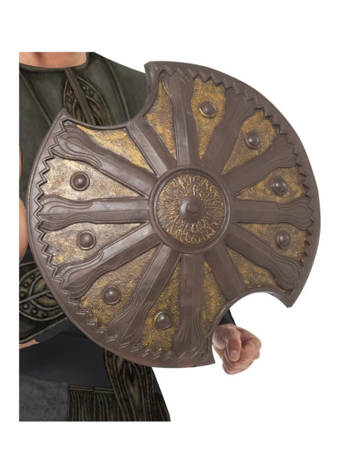 """48"""" Brown and Bronze Historical Achilles Unisex Adult Halloween Shield Costume Accessory - One Size - IMAGE 1"""