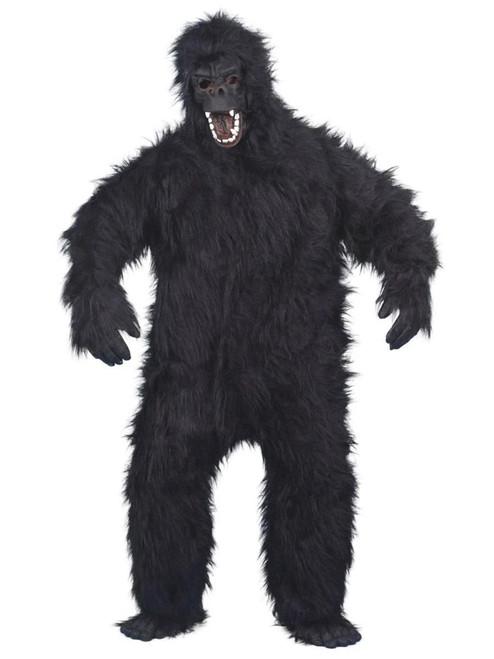 """54"""" Black Gorilla Unisex Adult Halloween Costume with Mask - One Size - IMAGE 1"""
