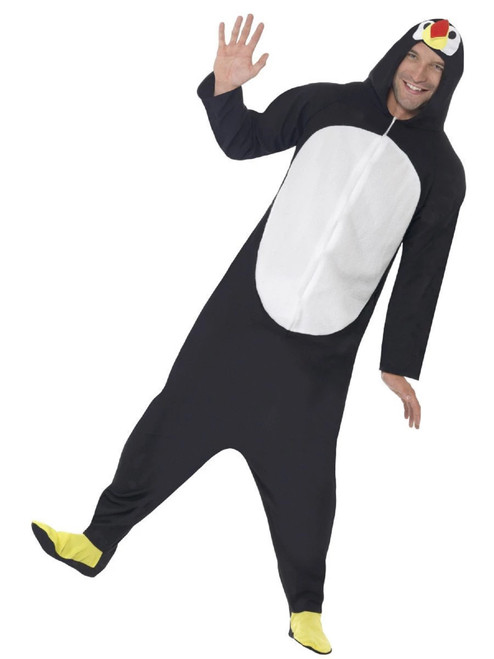 "42"" Black and White Penguin Unisex Adult Halloween Costume - Large - IMAGE 1"