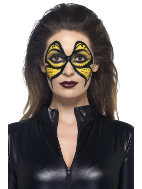 """19"""" Yellow and Black Liquid with Pot and Sponge Halloween Makeup Costume Accessory - IMAGE 1"""