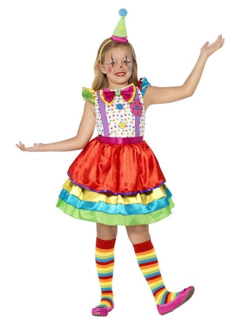 "50"" Red and Green Clown Girl Child Halloween Costume - Medium - IMAGE 1"