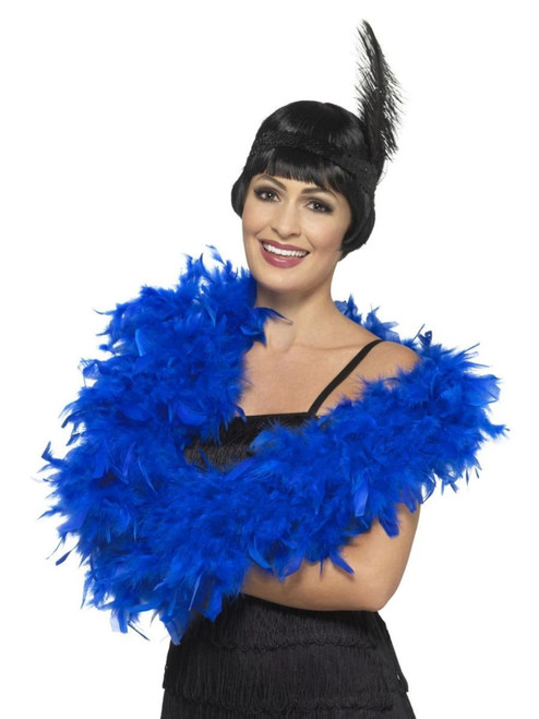 """26"""" Royal Blue 1920's Style Deluxe Unisex Adult Halloween Boa Costume Accessory - One Size - IMAGE 1"""