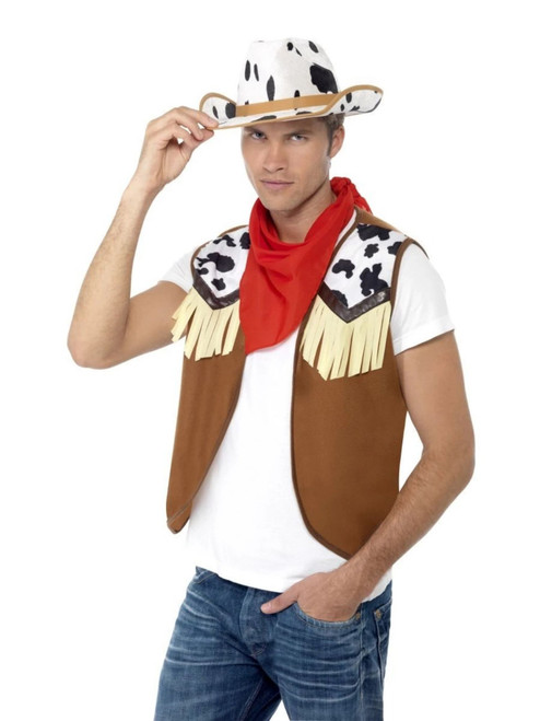 "46"" Brown and Red Wild West Men Adult Halloween Instant Kit Costume Accessory - One Size - IMAGE 1"