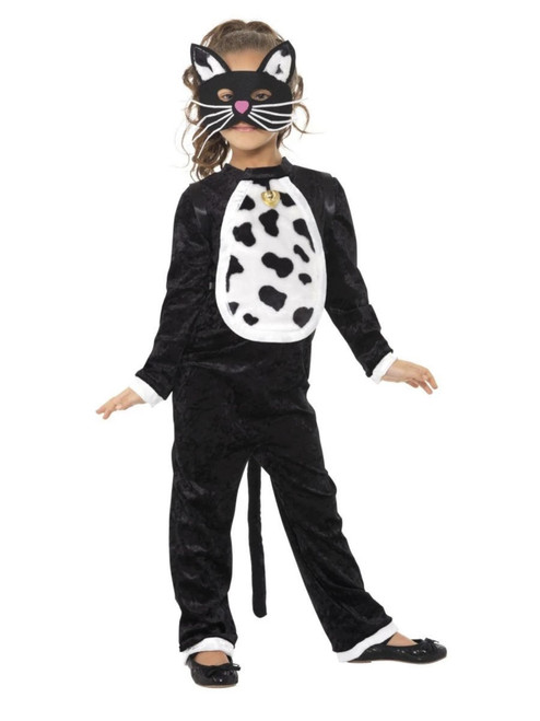 """50"""" Black and White Cat Girl Child Halloween Costume - Small - IMAGE 1"""
