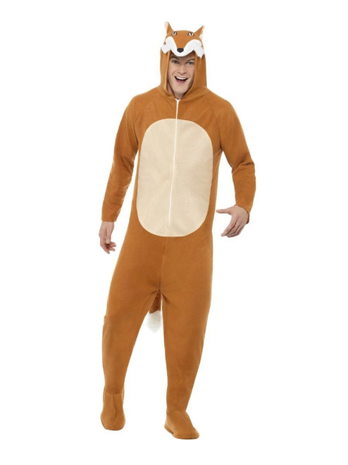 """42"""" Brown and White Fox Unisex Adult Halloween Costume - Large - IMAGE 1"""
