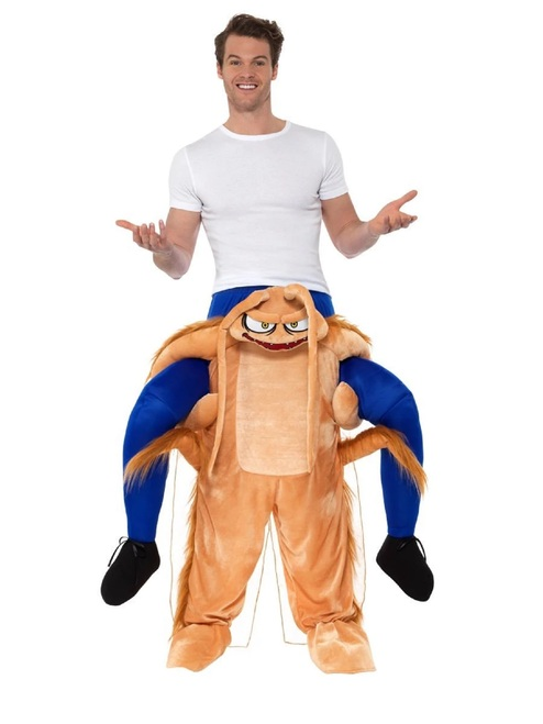 White and Brown Piggyback Cockroach Unisex Adult Halloween Costume - IMAGE 1