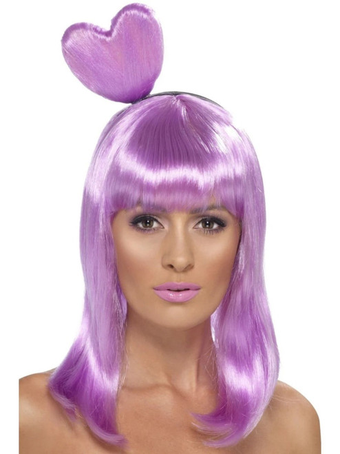 """26"""" Purple Candy Queen Women Adult Halloween Wig Costume Accessory - One Size - IMAGE 1"""