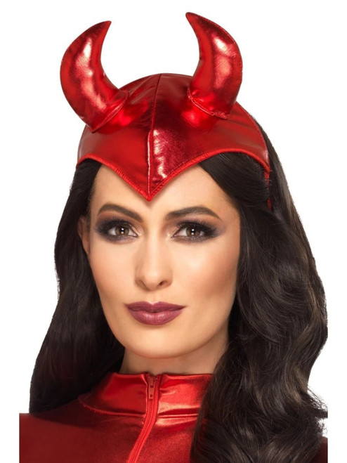 """20"""" Red Fever Devil Women Adult Halloween Headband Costume Accessory - One Size - IMAGE 1"""