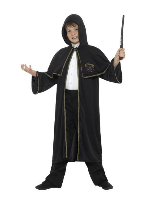 "40"" Black Wizard Cloak Boy Child Halloween Costume - Medium - IMAGE 1"