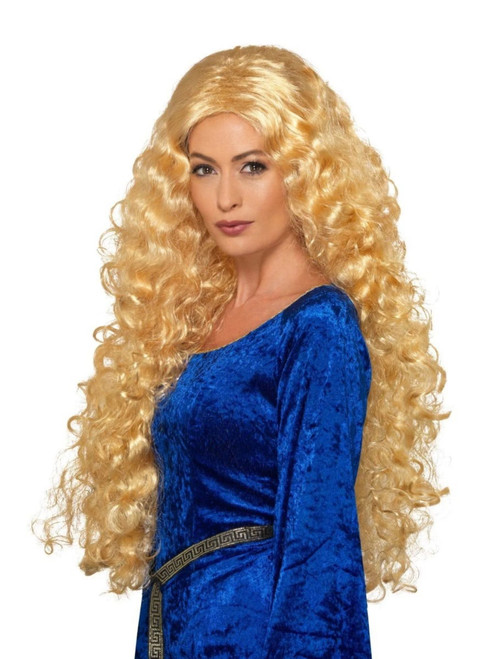 """26"""" Blonde Medieval Warrior Queen Extra Long Women Adult Wig Costume Accessory - One Size - IMAGE 1"""