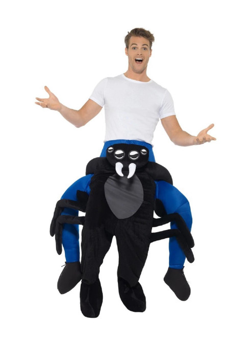 Black and White Piggyback Spider Unisex Adult Halloween Costume - IMAGE 1