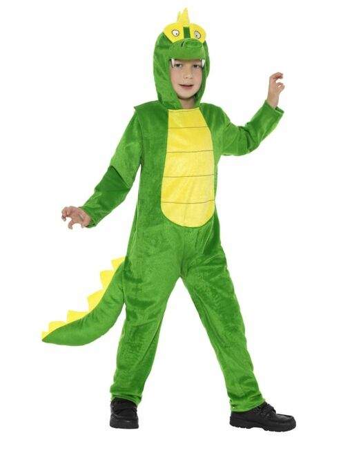 "40"" Green and Yellow Crocodile Unisex Child Halloween Costume - Small - IMAGE 1"