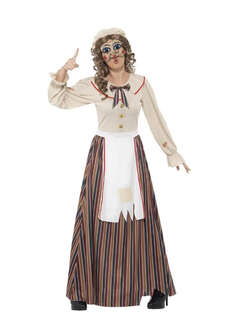 """41"""" White and Ivory Possessed Judy Women Adult Halloween Costume - Large - IMAGE 1"""
