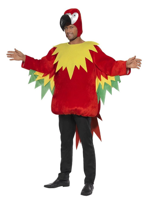 """42"""" Red and Yellow Party Parrot Unisex Adult Halloween Costume - Medium - IMAGE 1"""