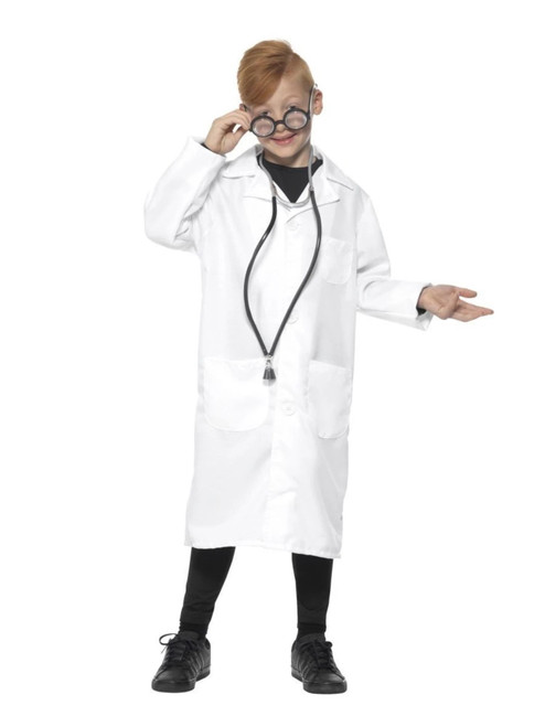 White Solid Doctor or Scientist Unisex Child Halloween Costume - Small - IMAGE 1