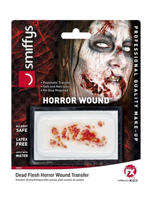 """15"""" Red Horror Wound Transfer Dead Flesh Unisex Adult Halloween Makeup FX Costume Accessory - IMAGE 1"""