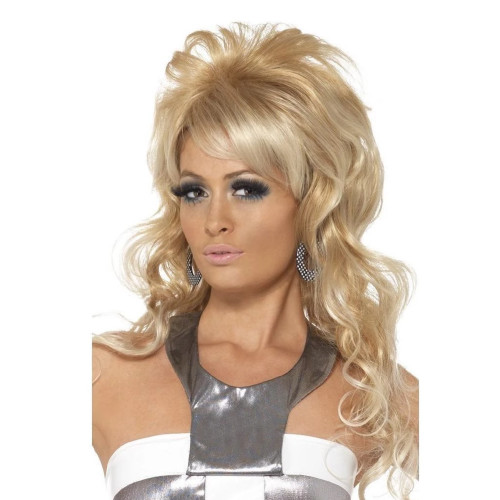 """26"""" Blonde Beige 1960's Style Beauty Queen Women Adult Halloween Wig Costume Accessory - One Size - IMAGE 1"""