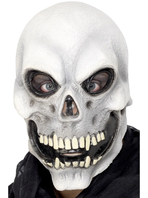 """24"""" White and Black Skull Overhead Unisex Adult Halloween Mask Costume Accessory - One Size - IMAGE 1"""