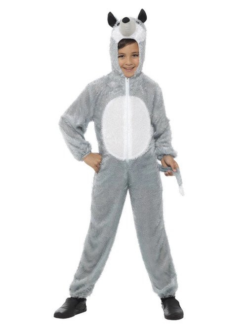 """50"""" Gray and White Wolf Unisex Child Halloween Costume - Small - IMAGE 1"""