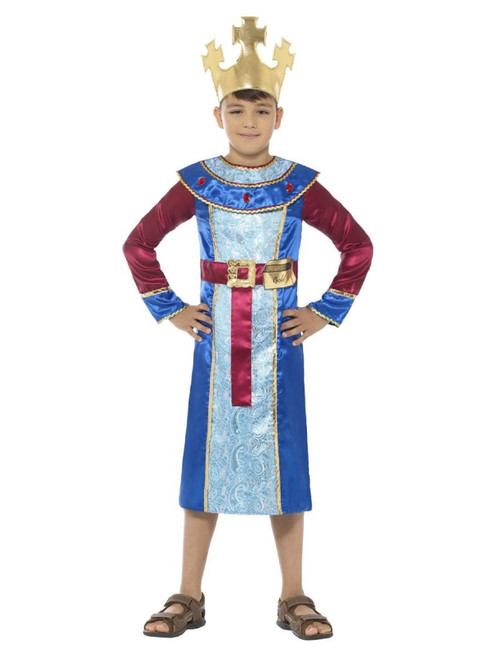 """42"""" Blue and Red King Melchior Boy Child Christmas Costume - Small - IMAGE 1"""