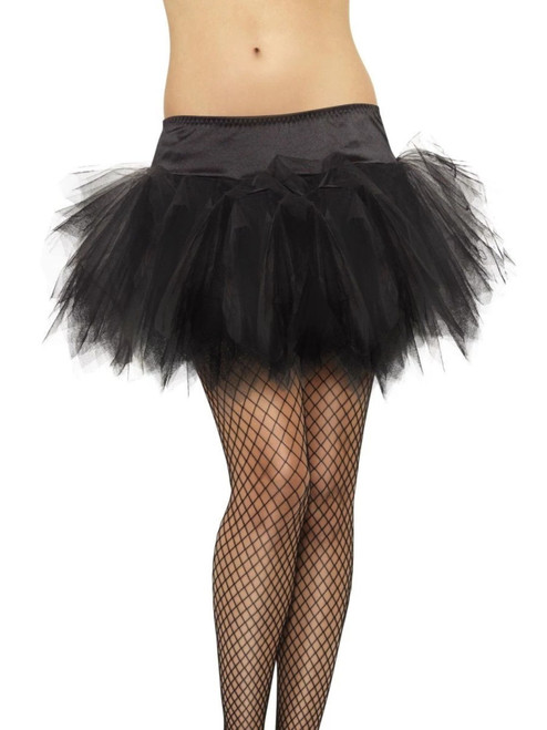 """30"""" Black Frilly Tutu Women Adult Outfit Halloween Costume - One Size - IMAGE 1"""