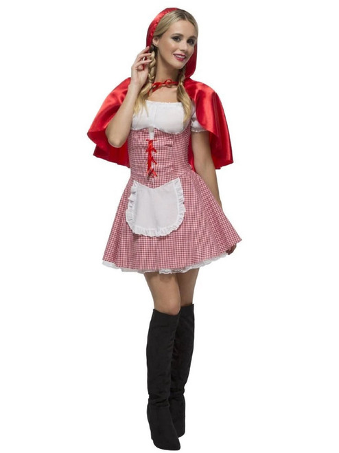 "50"" Red and Pink Fever Red Riding Hood Women Adult Halloween Costume - XS - IMAGE 1"