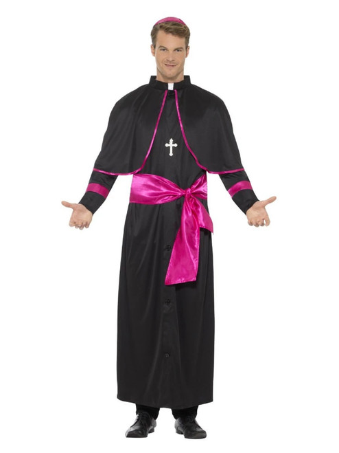 "40"" Black and Pink Cardinal Men Adult Halloween Costume - Medium - IMAGE 1"