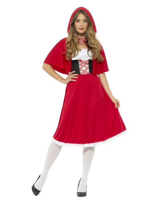 """48"""" White and Red Riding Hood Women Adult Halloween Costume - XS - IMAGE 1"""