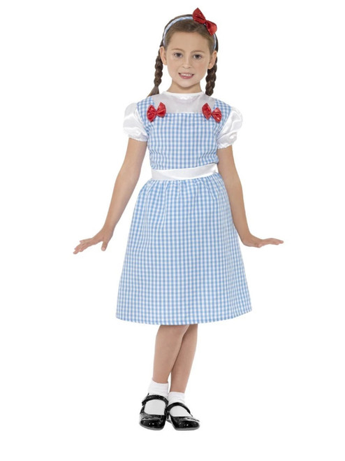 """42"""" Blue and White Checkered Country Girl Child Halloween Costume - Small - IMAGE 1"""