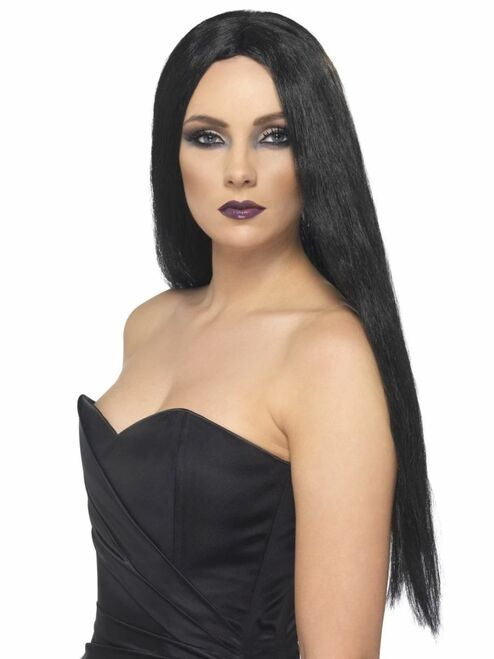 """26"""" Black Witch Long and Straight Women Adult Halloween Wig Costume Accessory - One Size - IMAGE 1"""