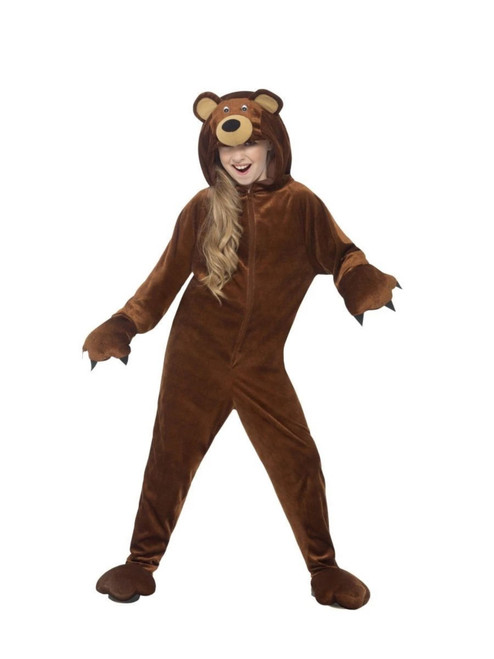 """50"""" Brown Bear Unisex Child Halloween Costume with Hooded Jumpsuit - Large - IMAGE 1"""