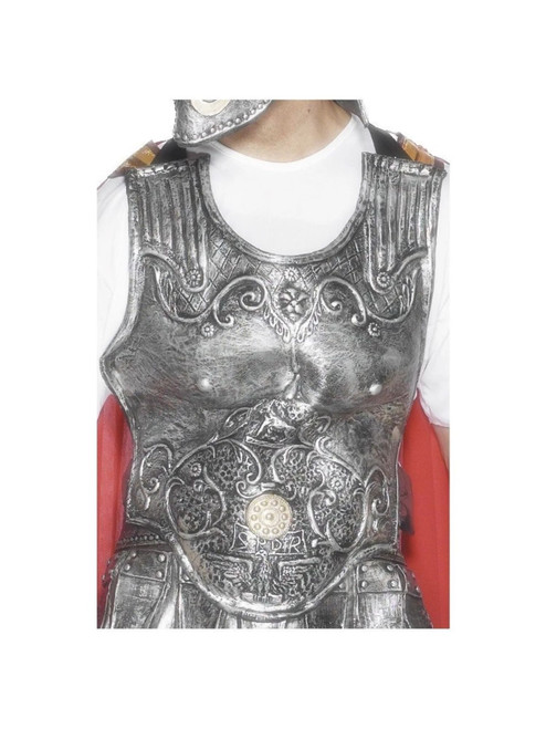 """51"""" Gray and White Roman Armour Men Adult Halloween Breastplate Costume Accessory - One Size - IMAGE 1"""