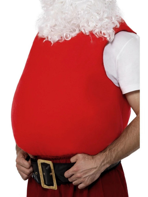 """40"""" Red Santa Unisex Adult Christmas Belly Stuffer Costume Accessory - One Size - IMAGE 1"""