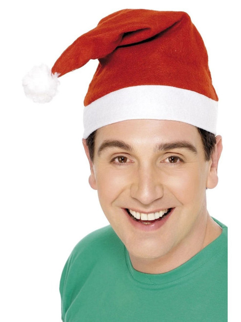 """41"""" Red and White Santa Unisex Adult Hat Christmas Costume Accessory - One Size - IMAGE 1"""