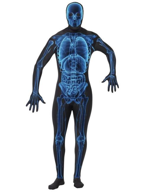 "40"" Blue and Black X Ray Unisex Adult Halloween Costume - Large - IMAGE 1"