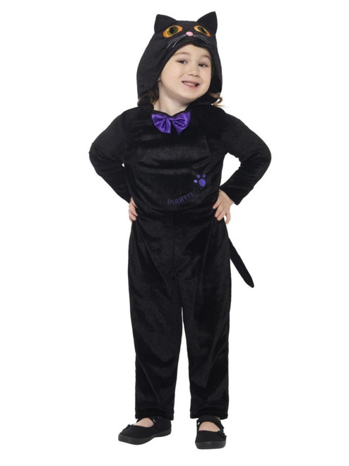 """44"""" Black and Purple Cat Toddler Halloween Costume - T2 - IMAGE 1"""