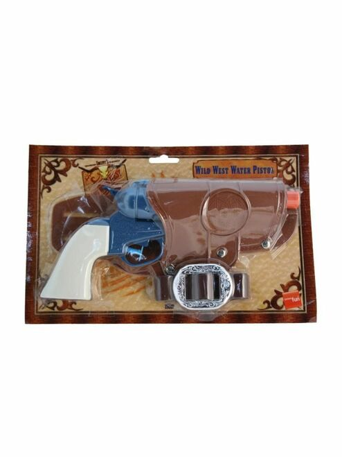 """31"""" Blue and Brown Western Water Pistol Unisex Adult Halloween Gun Costume Accessory - IMAGE 1"""