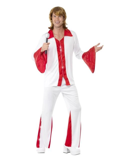 "49"" White and Red Super Trooper Men Adult Halloween Costume - Medium - IMAGE 1"