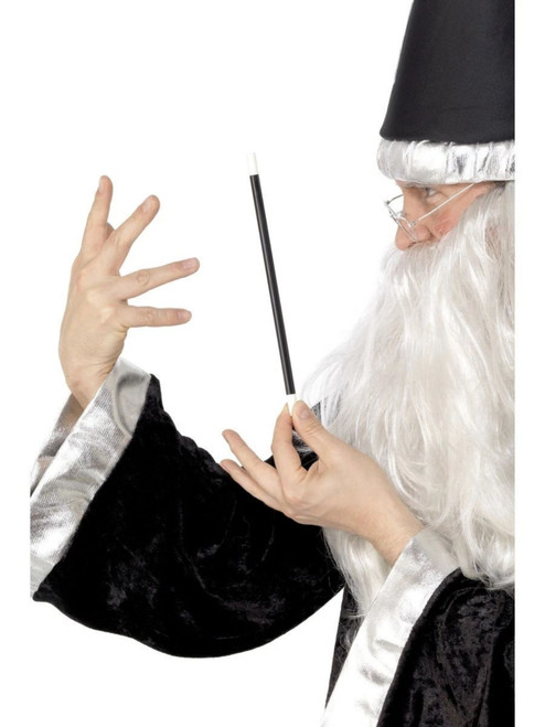 """39"""" Black and White Magician Unisex Adult Halloween Wand Costume Accessory - One Size - IMAGE 1"""